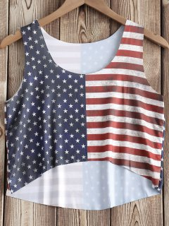 American Flag Print Patriotic Tank Top