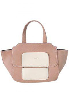 Winged Color Block Tote Bag - Pink