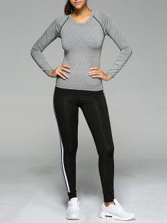 Long Sleeve T-Shirt And Sport Pants - Gray S