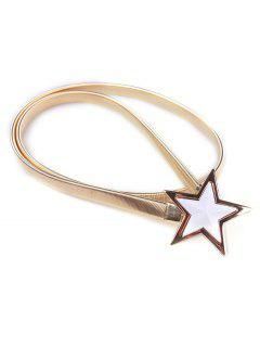 Star Metal Elastic Waist Belt - Golden