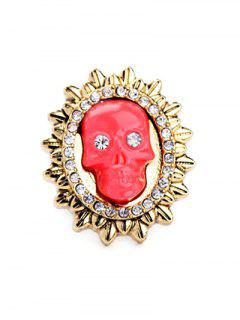 Rhinestone Sun Skull Ring - Lake