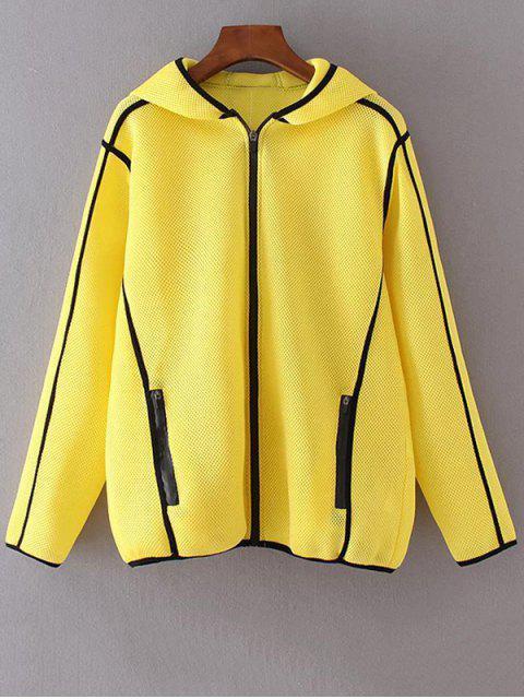chaqueta de malla - Amarillo L Mobile