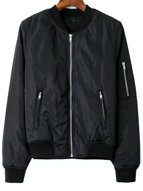 Zip Pocket Sport Jacket - Noir S Mobile