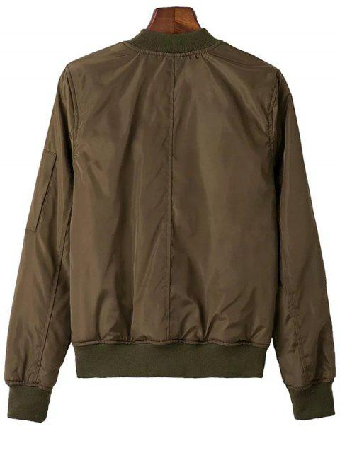affordable Zip Pocket Sport Jacket - ARMY GREEN L Mobile