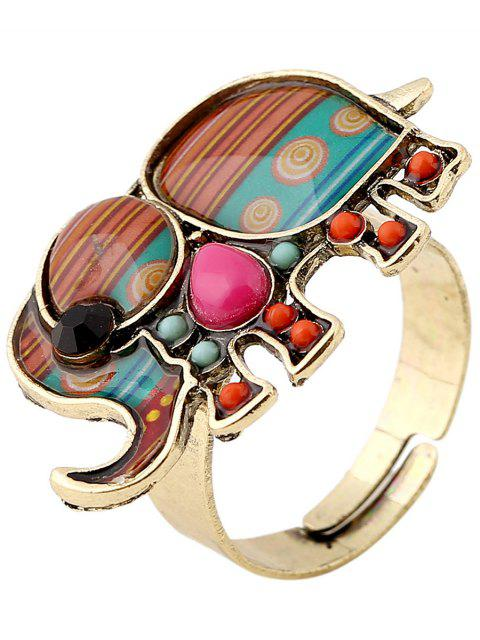 buy Elephant Faux Gem Ring - COLORMIX  Mobile