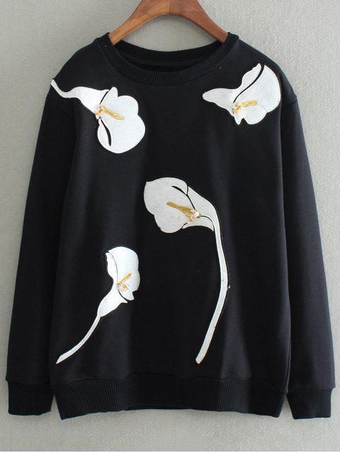 sudadera parcheado - Negro L Mobile