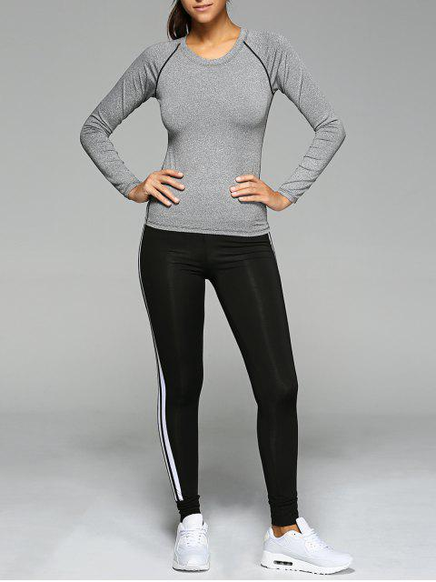 outfits Long Sleeve T-Shirt and Sport Pants - GRAY S Mobile