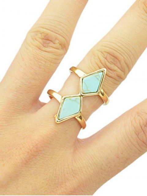 affordable Multilayered Faux Rammel Geometric Ring -   Mobile
