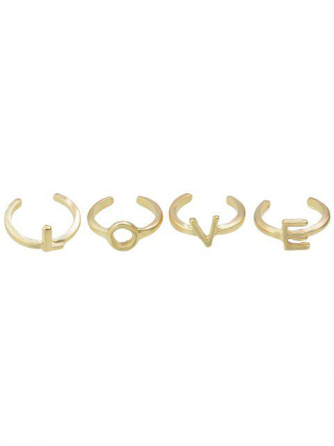 womens Letters Love Adorn Rings -   Mobile