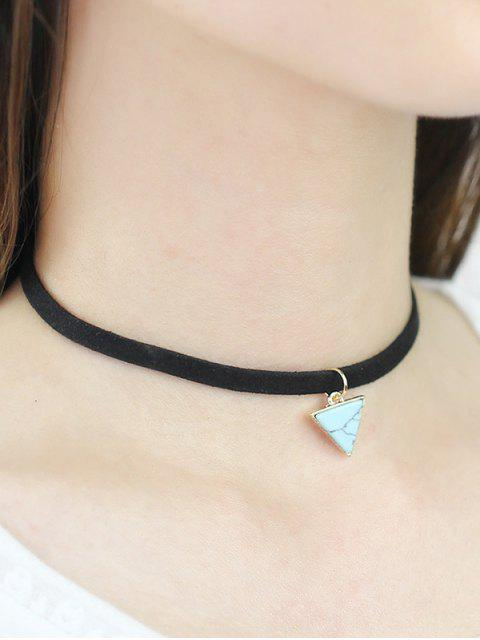lady Faux Rammel Triangle Choker - GREEN  Mobile