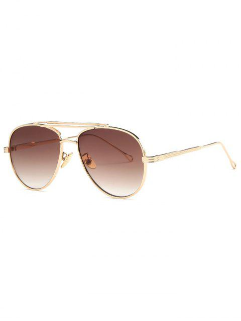 best Ombre Lens Crossbar Pilot Sunglasses - GOLDEN  Mobile