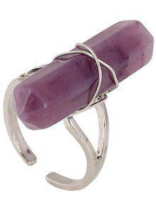 Faux Anillo Abierto De La Piedra Preciosa - Púrpura