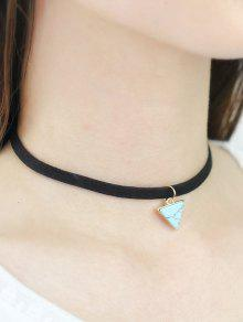 Faux Rammel Triangle Choker - Green