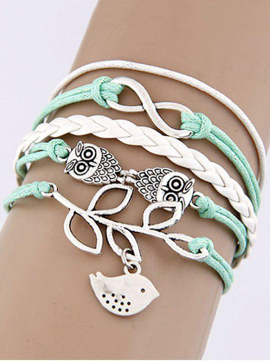 Best Owl Bir Infinity Braided Bracelet Colormix