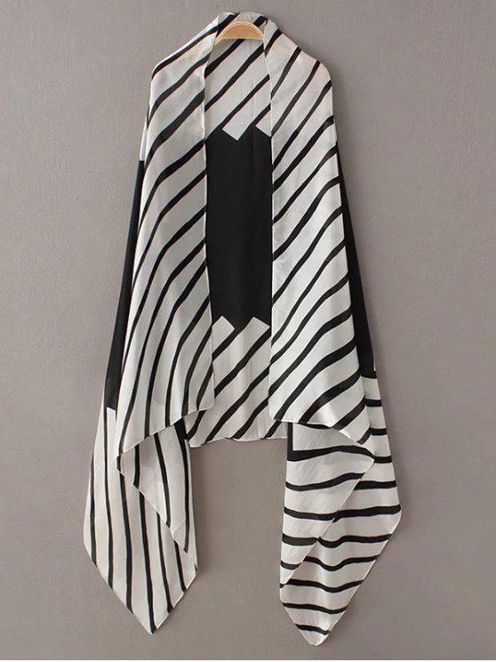 hot Comfortable Stripe Pashmina - WHITE AND BLACK