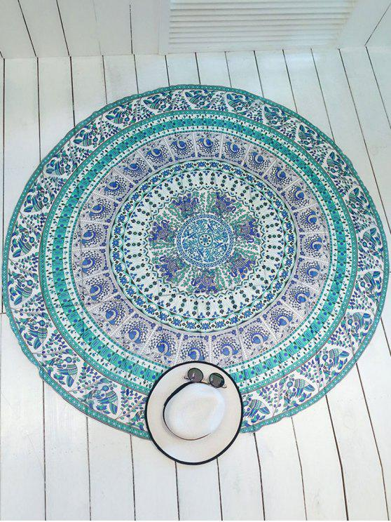 fancy Printed Round Shape Convertible Beach Throw - COLORMIX ONE SIZE