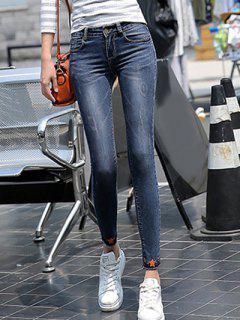Bleach Wash Skinny Jeans - Blue 25