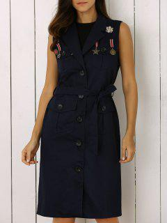 Belted Utility Waistcoat - Bleu Violet M