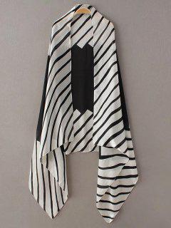 Comfortable Stripe Pashmina - White And Black
