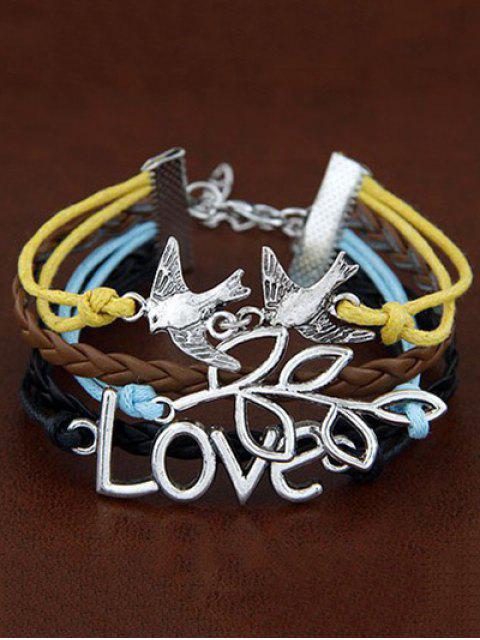 hot Peace Dove Braided Bracelet - COLORMIX  Mobile