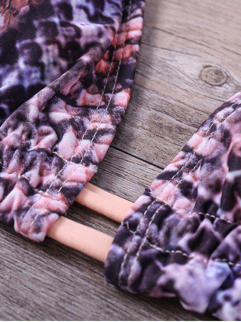 shop Snakeskin Print Braided Bikini Set - EARTHY S Mobile