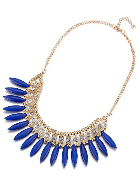 Faux Rammel strass creuse Collier Out - Bleu  Mobile