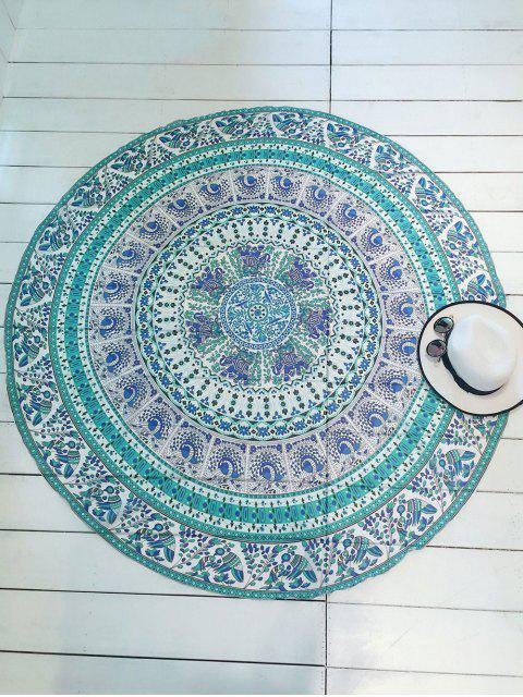 fancy Printed Round Shape Convertible Beach Throw - COLORMIX ONE SIZE Mobile