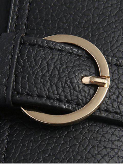 ladies Buckle PU Leather Zippers Crossbody Bag -   Mobile