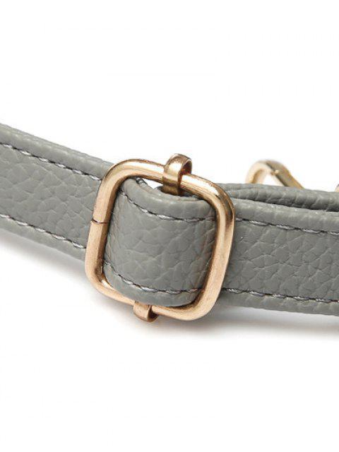 new Metal Zipper PU Leather Tote Bag -   Mobile