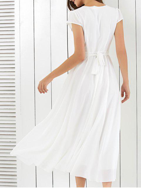 new Wrap Tie Maxi Beach Dress - WHITE S Mobile