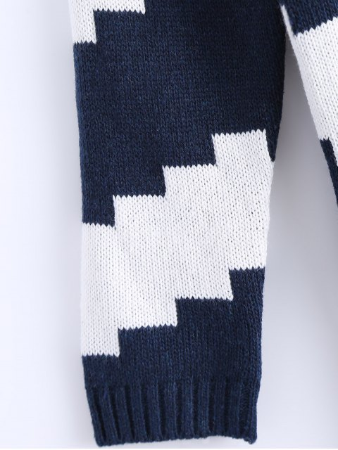Striped Midi Robe pull - Bleu et Blanc TAILLE MOYENNE Mobile