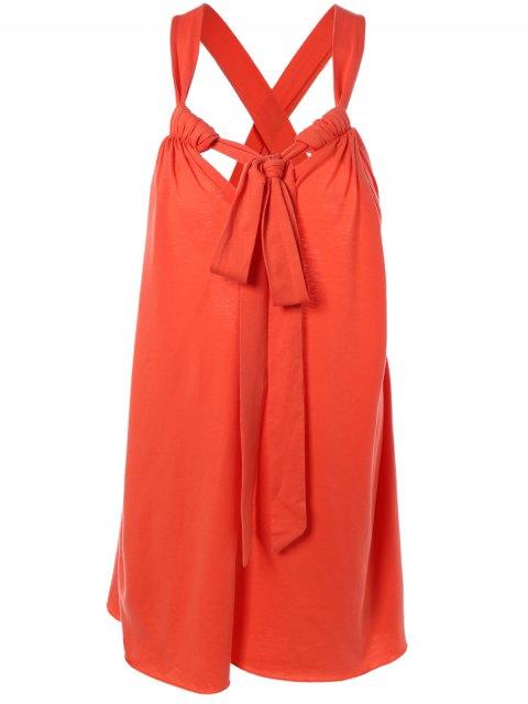 Cabestro vestido de cambio espalda cruzada Camí - Rojo M Mobile