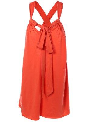 Cabestro Vestido De Cambio Espalda Cruzada Camí - Rojo M