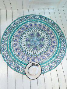 Printed Round Shape Convertible Beach Throw