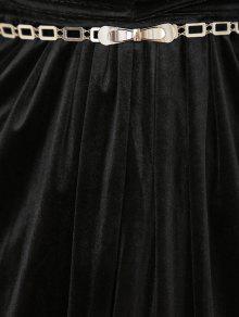 tiefer ausschnitt samt kleid schwarz casual kleider s zaful. Black Bedroom Furniture Sets. Home Design Ideas