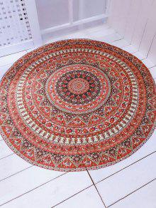 Buy Printed Convertible Round Shape Beach Throw - BROWN ONE SIZE