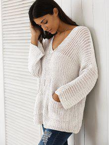 V Neck Chunky Sweater OFF-WHITE: Sweaters ONE SIZE | ZAFUL