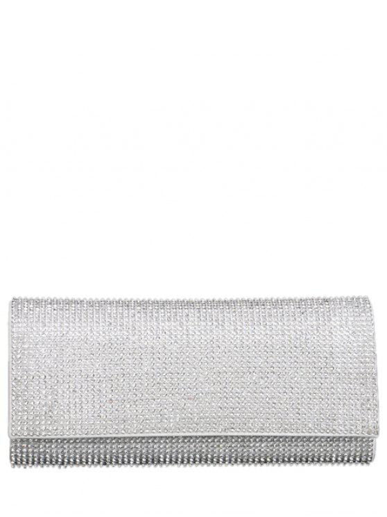 latest Rhinestone Flap Evening Bag - SILVER