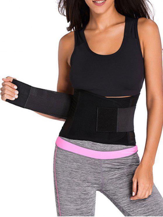 Gancho y lazo de la cintura del corsé Trainer - Negro S