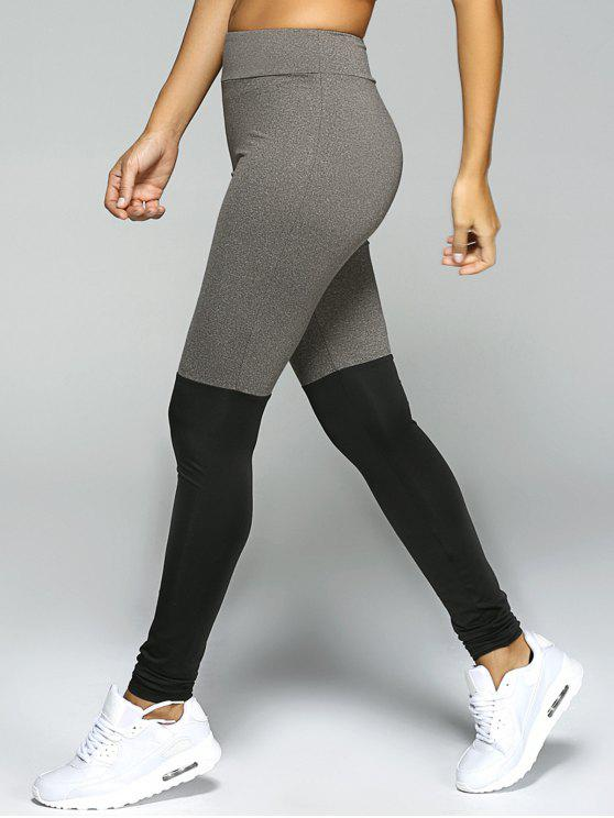 latest Stretchy Sport Leggings - BLACK AND GREY L