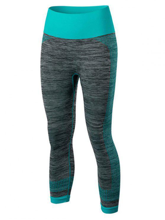 women's Sport Capri Running Leggings - BLUE L