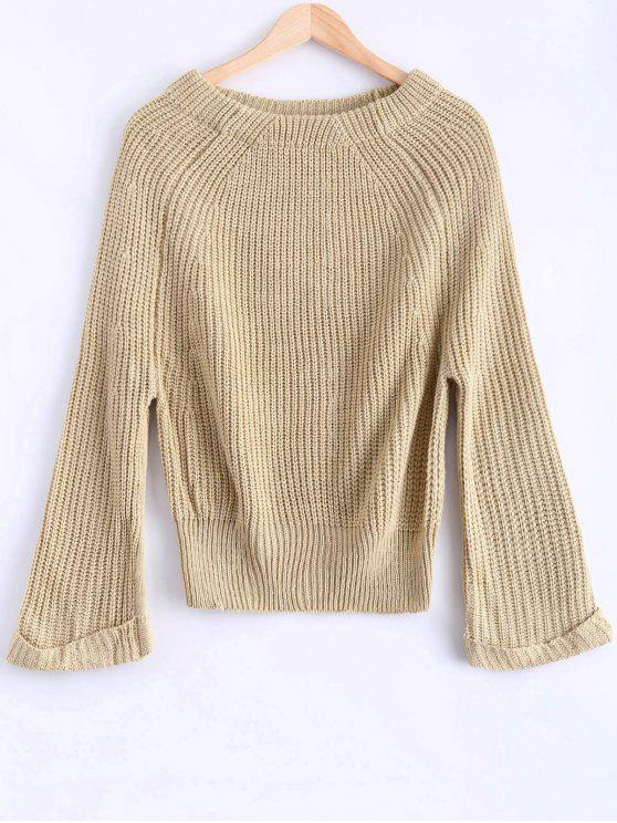Épaule Off Chunky Sweater - Abricot Taille Unique
