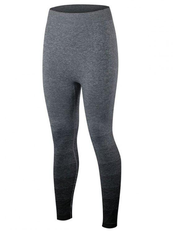 outfit Gradient Color Sport Running Leggings - BLACK S