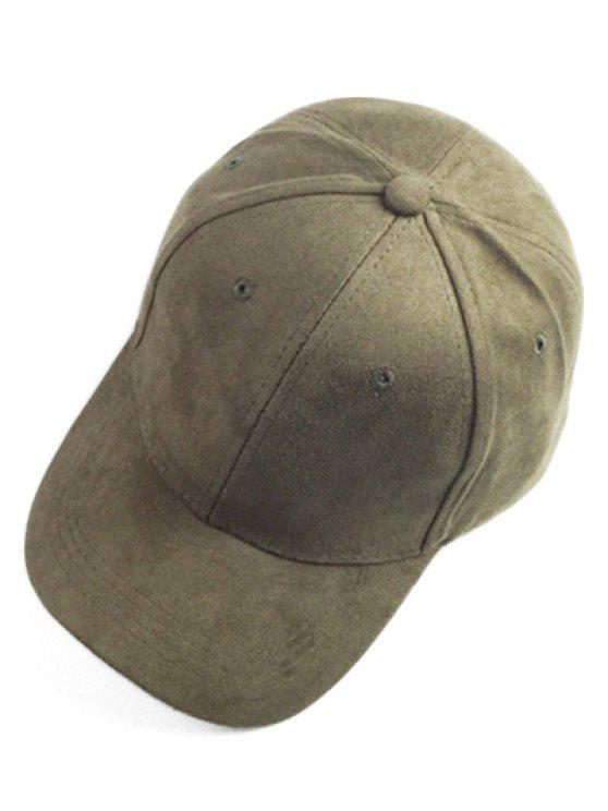 unique Brief Faux Suede Baseball Hat - ARMY GREEN