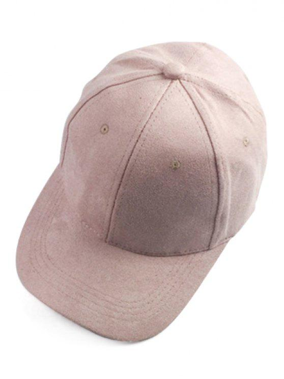 affordable Brief Faux Suede Baseball Hat - PINK