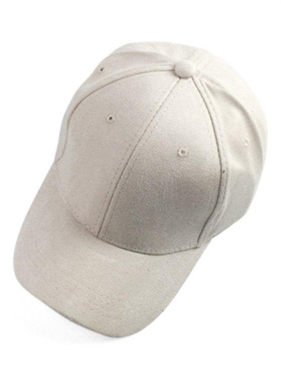 Breve gamuza sintética sombrero de béisbol - Blancuzco