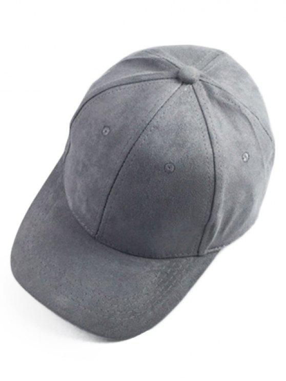 ladies Brief Faux Suede Baseball Hat - DEEP GRAY