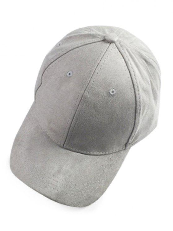 lady Brief Faux Suede Baseball Hat - LIGHT GRAY