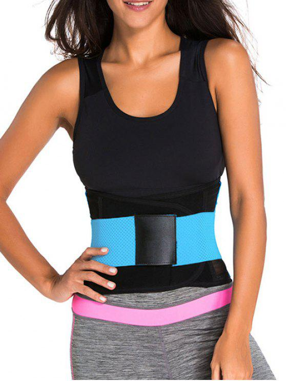 lady Hook and Loop Waist Trainer Corset - BLUE XS