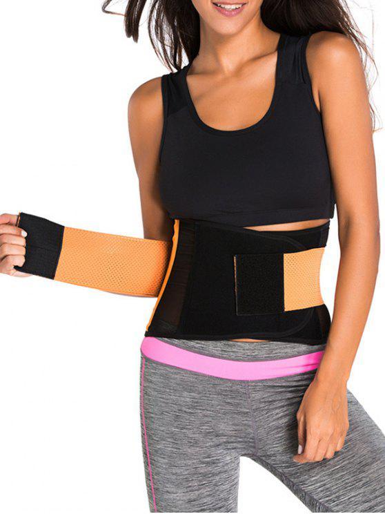 Gancho y lazo de la cintura del corsé Trainer - Naranja S